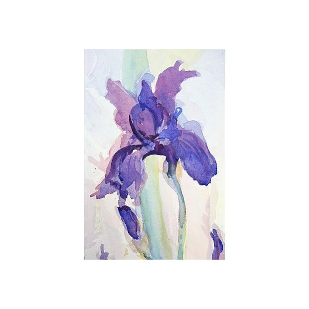 Cottage Irises by Richard Thomsen For Sale - Image 3 of 3