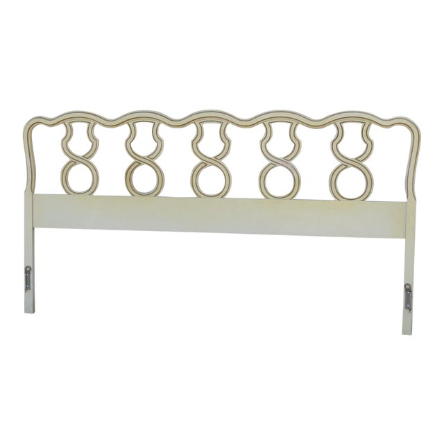 French King Size Painted Headboard For Sale