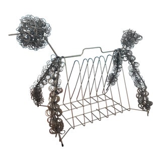 Mid-Century Poodle Magazine Rack For Sale