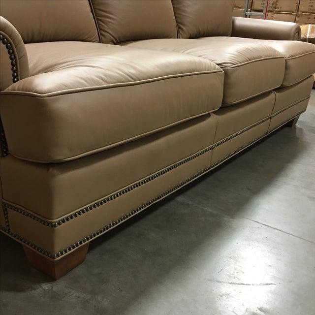 Leathercraft Tan Leather Sofa - Image 6 of 6