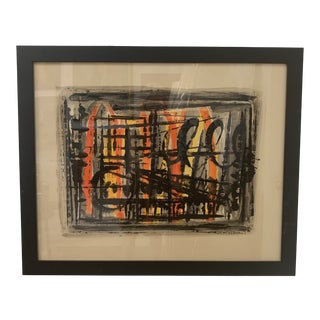 1960s Abstract Watercolor Painting For Sale