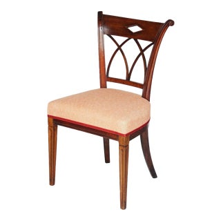 Mahogany Dutch Upholstered Dining Chair For Sale