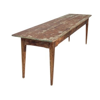 Long Wood Console For Sale
