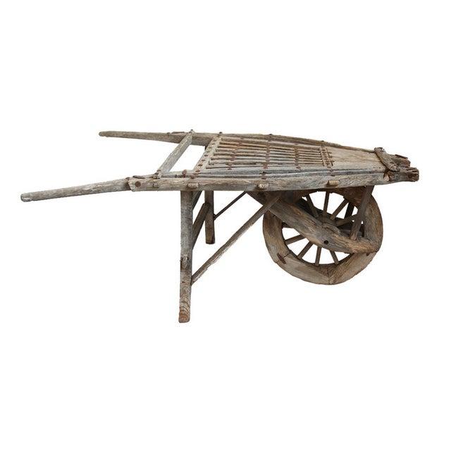 Antique Mongolian Wheel Cart - Image 1 of 3