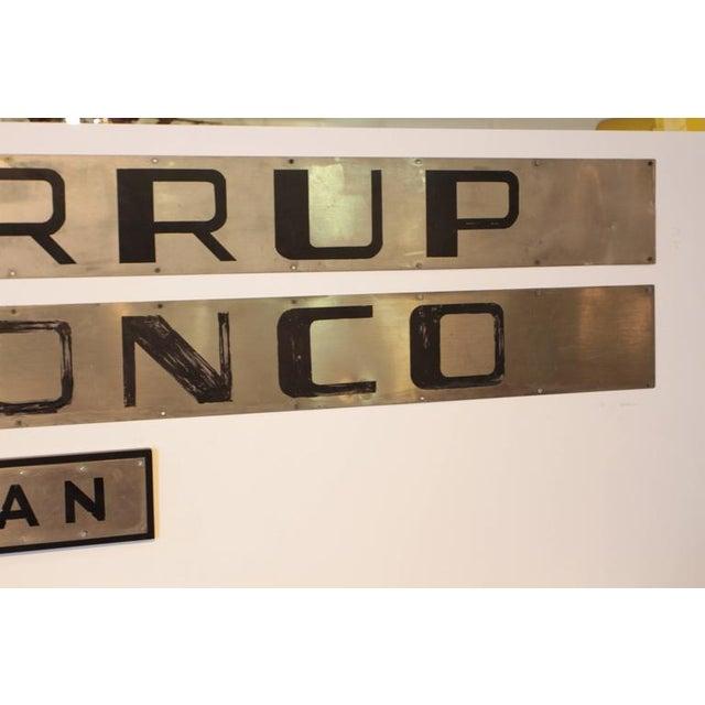Metal Machine Age Art Deco California Zephyr Pullman Train Car Nameplates Vista Dome For Sale - Image 7 of 10