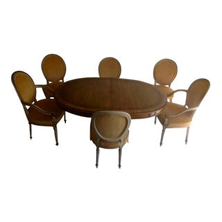 Vintage Karges Louis XVI Style Pedestal Dining Set