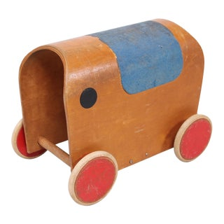 1950s European Mid Century Elephant Toy Car For Sale