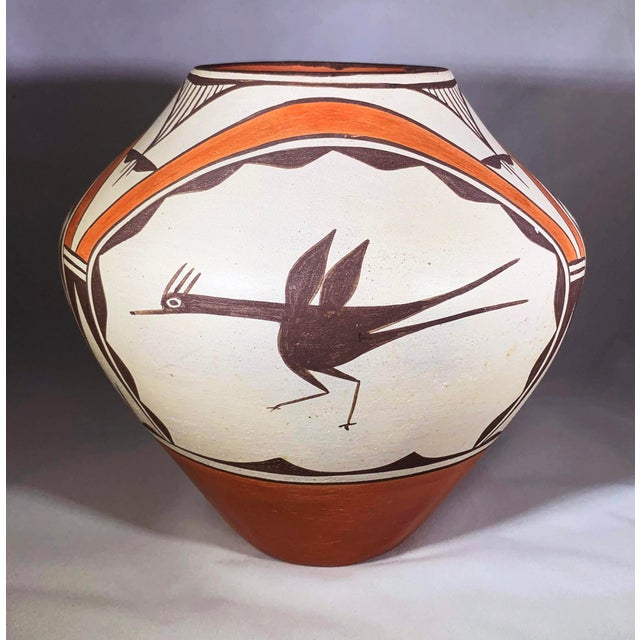 Southwest Zia Pueblo Roadrunner Polychrome Pottery For Sale - Image 12 of 12