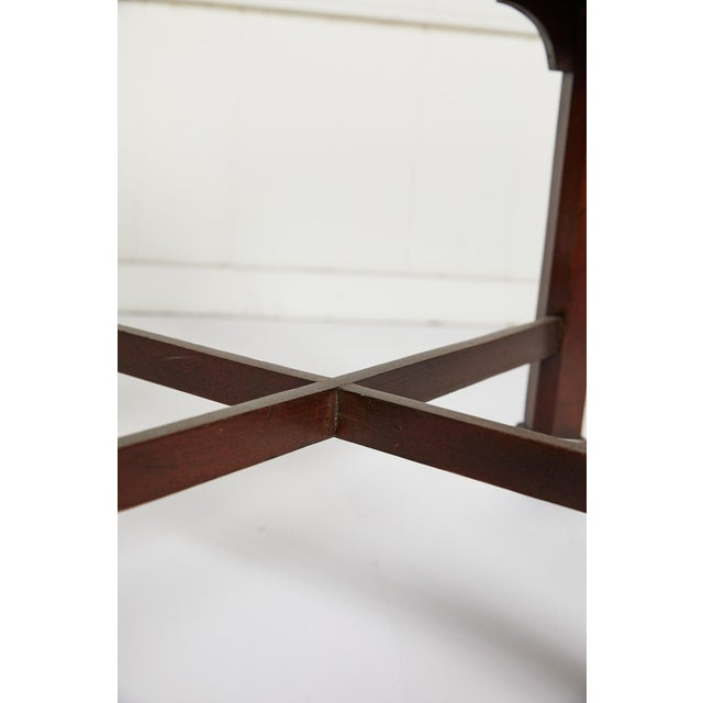 English Chinese Chippendale Style Mahogany Stool For Sale - Image 12 of 13