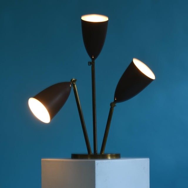 Gold Rare 1940's Greta Magnusson-Grossman Table Lamp With Adjustable Shades For Sale - Image 8 of 13