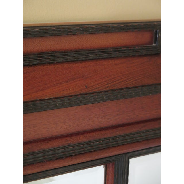 1990s 1990s Vintage Beveled Glass Mahogany Mirror For Sale - Image 5 of 8