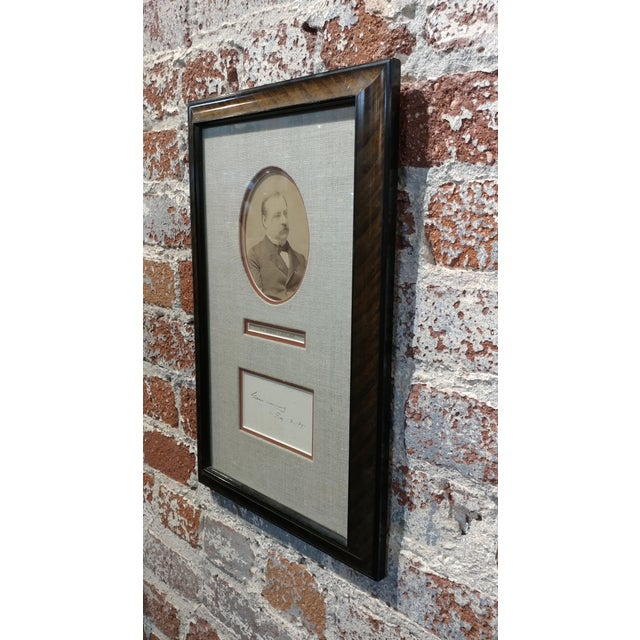 Grover Cleveland -22nd & 24th US President - Original Signature with Photograph-1891 For Sale In Los Angeles - Image 6 of 7
