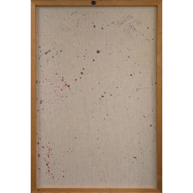 Canvas Frealon Norden Bibbins Organic Abstract 1976 For Sale - Image 7 of 9