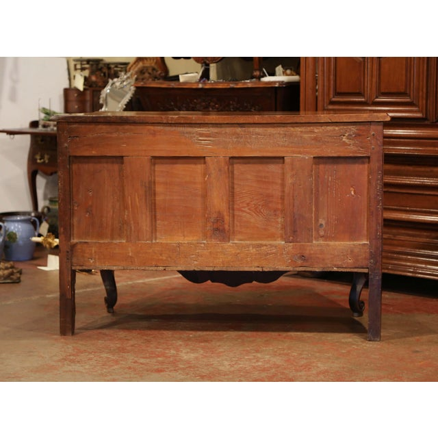 18th Century Louis XV Period Carved Walnut Two-Drawer Commode From Fourques For Sale - Image 10 of 11