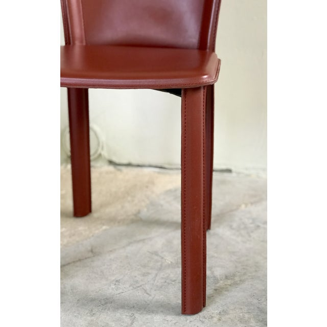 """2010s DWR Red """"Bottega"""" Side Chairs - Set of 4 For Sale - Image 5 of 8"""