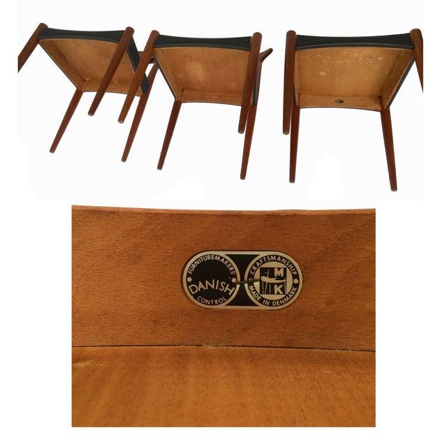 Brown 1960's Danish Mid-Century Modern Arne Hovmand-Olsen Model Mk 310 Teak Dining Chairs - Set of 6 For Sale - Image 8 of 13