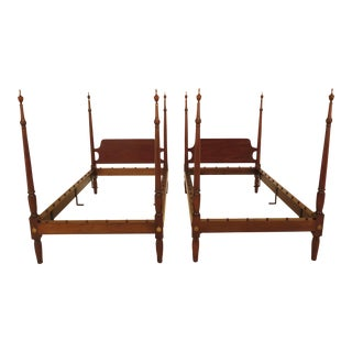 Kittinger Cw-58 Colonial Williamsburg Twin Beds - a Pair
