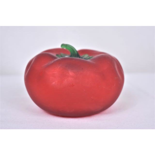 Glass 1980s Vintage Hand Blown Tomato For Sale - Image 7 of 7