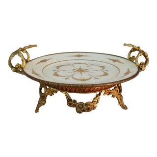 19th Century Sèvres Style Old Paris Ormolu Porcelain Comport Dish For Sale