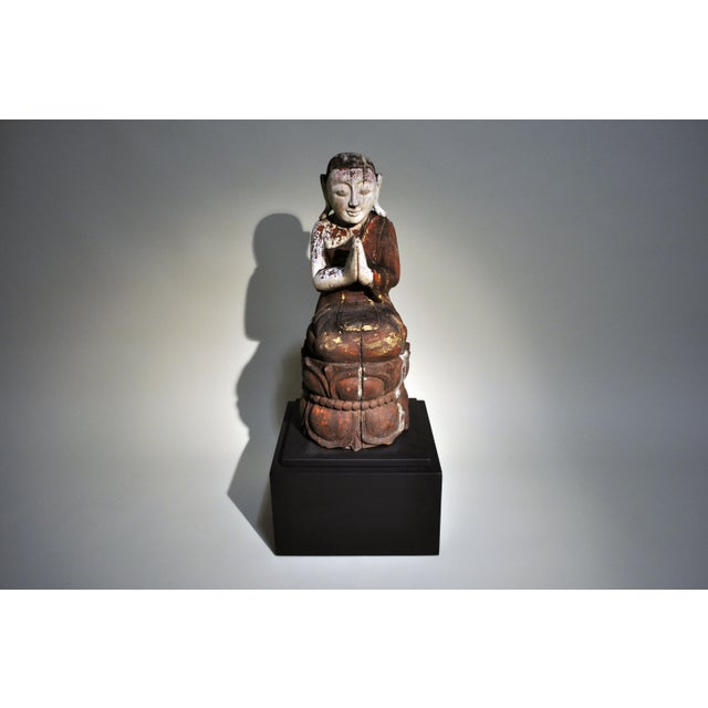 Southeast Asian Figural Carving- A Pair For Sale - Image 4 of 8