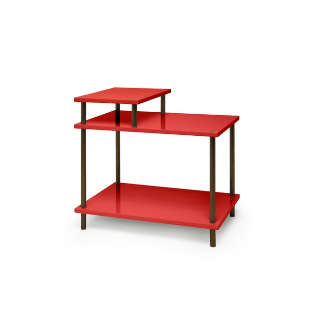 Contemporary Addison Bedside Table in Chinese Red - Veere Grenney for The Lacquer Company For Sale - Image 3 of 3