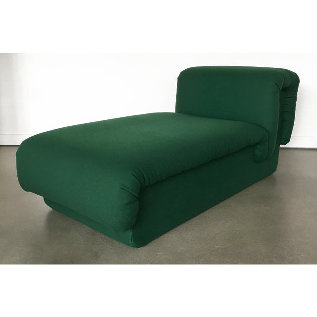 Pair of Italian Fully Upholstered Modernist Chaise Longues For Sale - Image 10 of 13