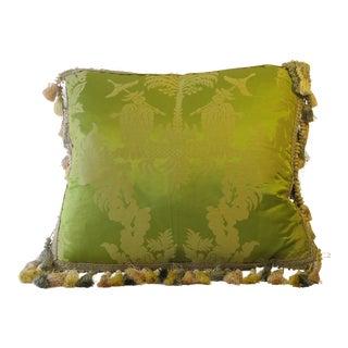 Silk Damask Chinoiserie Pillow