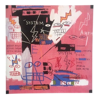 "Jean Michel Basquiat Estate Fine Art Lithograph Pop Art Print "" Six Fifty "" 1982 For Sale"