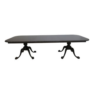 Antique Chippendale Ball Claw Rop Twist Dining Room Banquet Table For Sale