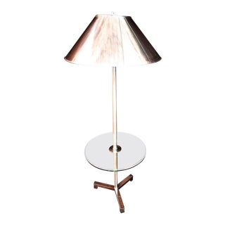 Floor Lamp With Metal Shade For Sale
