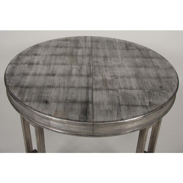 Metal Silver Leaf Dining Table by James Mont For Sale - Image 7 of 13