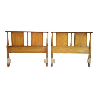 1960s Mid Century Modern Dixie Twin Size Headboards - a Pair For Sale
