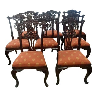 Henredon Furniture Aston Court Carved Mahogany Formal Dining Chairs- Set of 8 For Sale
