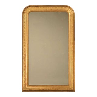 "Jaw-Dropping 55 x 34"" Original Antique French Louis Philippe Gilt Mirror For Sale"