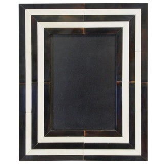 Black and White Horn Photo Frame For Sale