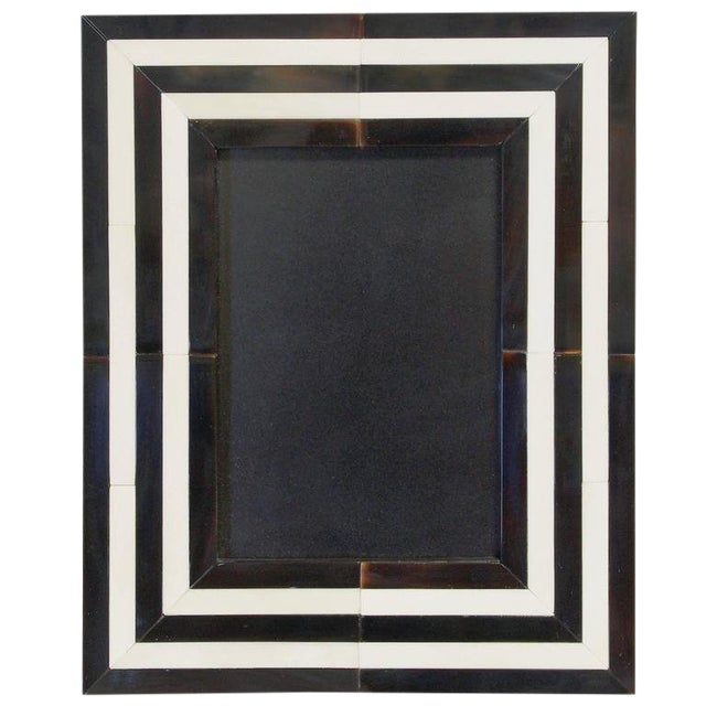 Black and White Horn Photo Frame by Fabio Ltd For Sale