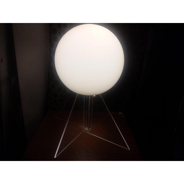Plastic Mid Century Plexi Globe Table/Floor Lamp For Sale - Image 7 of 10