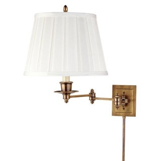 Triple Pivot Swing Arm Brass Wall Lamps - A Pair For Sale