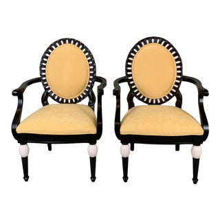 1980s Vintage Yellow Armchairs- A Pair For Sale