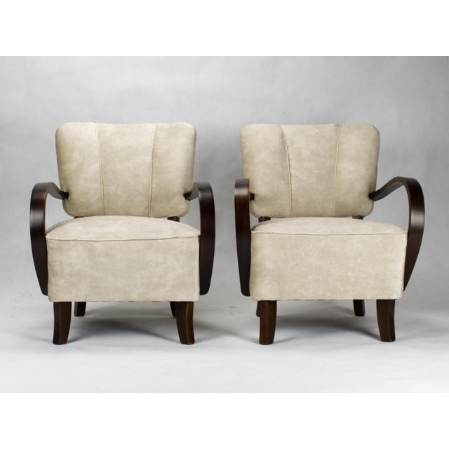 1930s 1930s Model H 237 Art Deco Armchairs by Jindrich Halabala- A Pair For Sale - Image 5 of 6