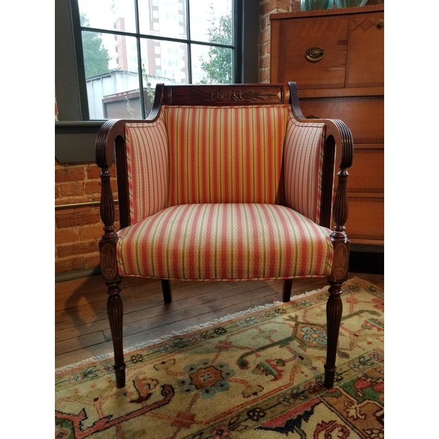 Southwood Mahogany Wheatback Chair From Waldorf Astoria New York City For Sale - Image 9 of 9