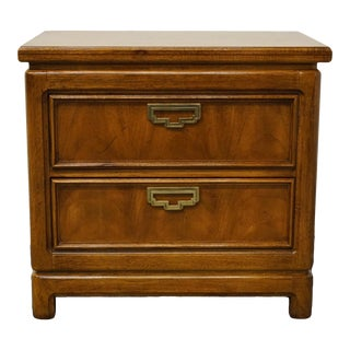 Vintage Thomasville Furniture Mystique II Asian 2 Drawer Nightstand For Sale
