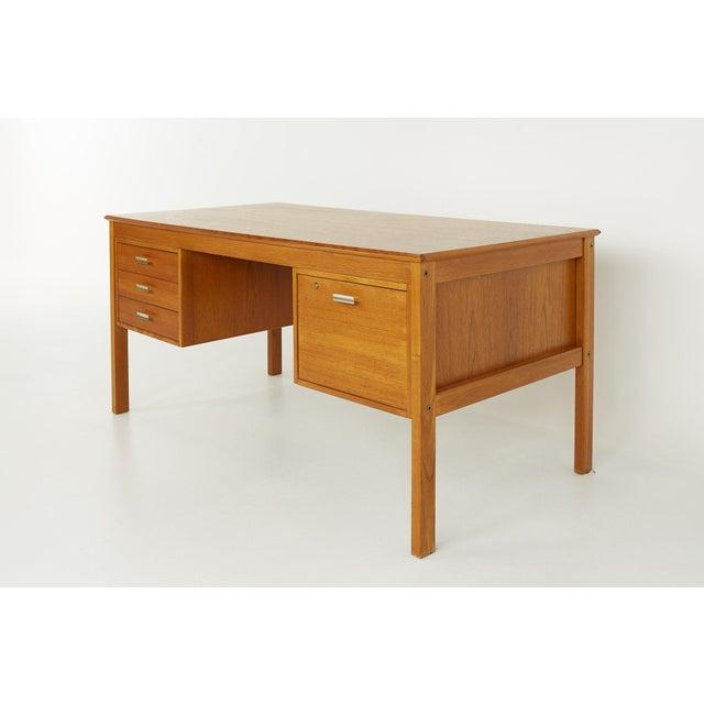 Maurice Villency Farso Stolefabrik for Maurice Villency Mid Century Danish Teak Desk For Sale - Image 4 of 13