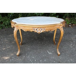 20th Century Louis XVI Center or Coffee Table With Marble Top Preview