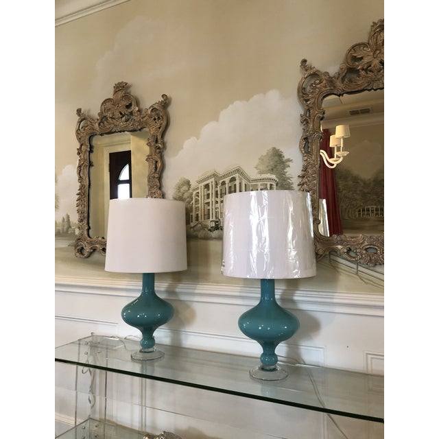 Arteriors Home Arteriors Rory Lamps With Silk Shades - a Pair For Sale - Image 4 of 9