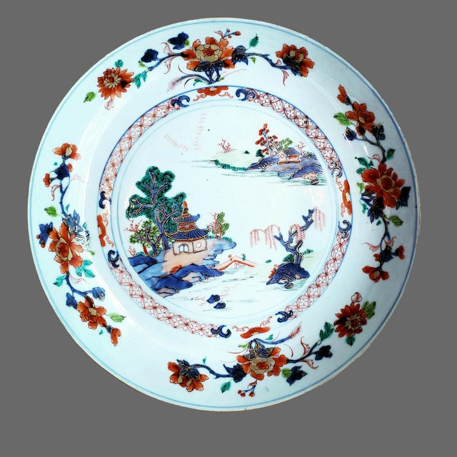 Chinese Export Porcelain Imari and Verte Saucer Dish For Sale - Image 11 of 12