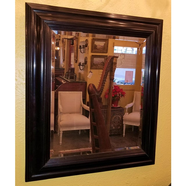 19th Century American Ebony Mirror With Beveled Glass For Sale In Dallas - Image 6 of 6