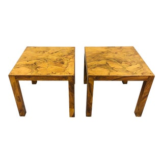 Vintage MCM Burl Parsons Tables For Sale