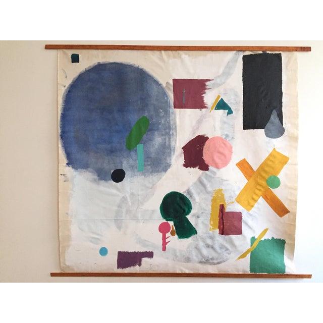 "Olivia Gossett ""Shapes I"" Painting For Sale - Image 4 of 4"