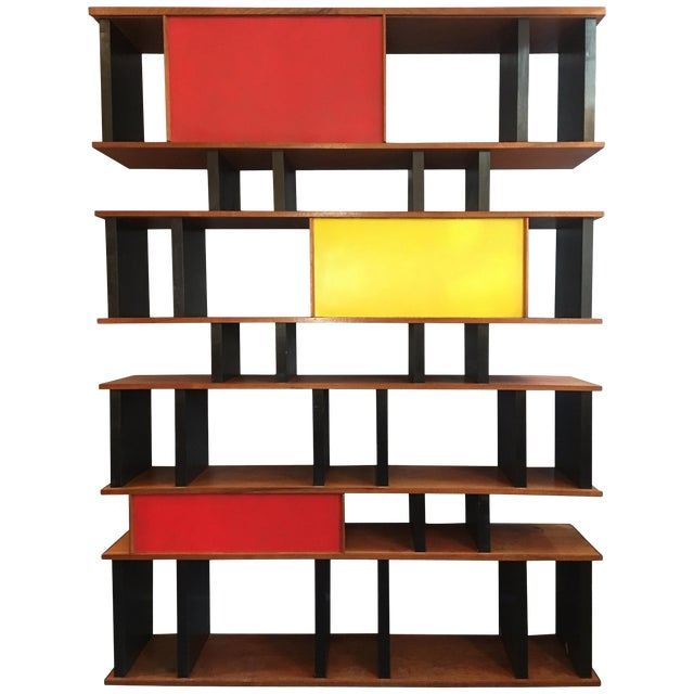 Charlotte Perriand and Jean Prouve Style Shelving System For Sale